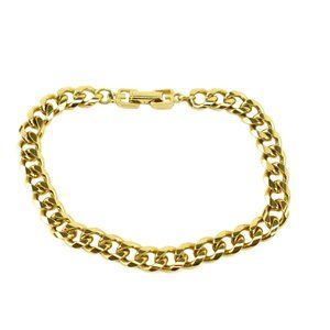 GIVENCHY: Gold Metal Curb Link G Clasp Bracelet my